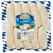 Ponnath Münchner Weißwürste gebrüht, 10 Stück à 60 g 8 x 600 g Packungen