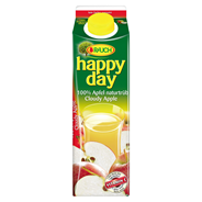 Happy Day Apfelsaft trüb, 100% Apfelsaft mit Vitamin C 12 x 1 l Packungen