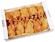 Hähnchen frisch gewürzt ohne Hals und Innereien grillfertig gesteckt 12 x ca. 1.100 g