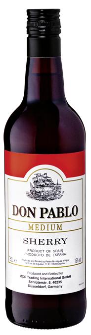 Don Pablo Medium Sherry 15 % Vol. 6 x 0,75 l Flaschen