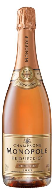 Heidsieck Monolpole Rosé Top Champagner - 750 ml Flasche