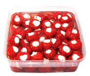 Olymp Feinkost Antipasti gefüllte Kirschpaprika mit Frischkäse, in Öl 1,85 kg Packung