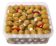 Olymp Feinkost Antipasti gefüllte grüne Oliven mit Frischkäse, in Öl 1,85 kg Packung