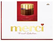 Merci Finest Selection Große Vielfalt gefüllte und nicht gefüllte Schokoladen-Spezialitäten 38 x 675 g Schachteln