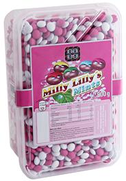 Agilus Dragees Milly Lilly's Mints Mini Schoko-Linsen mit Pfefferminzöl 900 g Packung