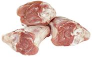Lamm-Hinterhaxe tiefgefroren, 2-3 Stück, mit Knochen, aus Neuseeland, einzeln vak.-verpackt 800 g