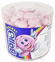 Rocket Balls Brause Artikel Erdbeere Sauer 200 Stück Dose