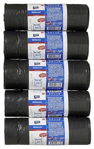 Aro Müllsäcke Grau 60 l mit Zugband, Maße (L x B): 65 x 65 cm, Stärke: 25 my 5 x 20 Beutel Packung