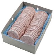 Hamburger Patty tiefgefroren, roh, 40 Stück á 125 g, vom Rind 5 kg Karton