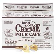 Landgold Kaffeesahne Einzelportionen 240 á 10g, 10% Fertt 2,4 kg Karton