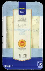 Cascina Verdesole Gorgonzola Dolce norditalienischer Blauschimmelkäse, 48 % Fett 200 g Packung