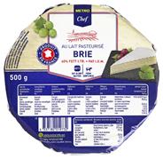 Horeca Select Brie französischer Weichkäse, 60 % Fett 500 g Packung