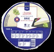 METRO Chef Brie  französicher Weichkäse, 60 % Fett i. Tr., Kuhmilch - 2 x 1 kg Packungen