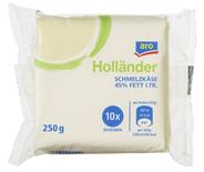 Aro Schmelzkäse Holländer Scheiben 10 Scheiben à 25 g, 45 % Fett 250 g Packung
