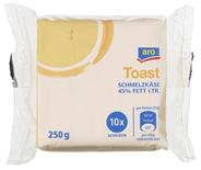 Aro Schmelzkäse Toast Scheiben 10 Scheiben à 25 g, 45 % Fett 250 g Packung