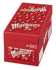 Maltesers Schokoladenkugeln Milchschokolade mit luftig, leichtem Knusperkern, 35 Stück à 37 g 25 x 37 g Karton