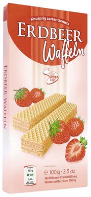 CREMEWAFFELN 100g Erdbeer