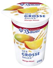 Bauer Der große Bauer Mango-Müsli 3,5 % Fett 250 g Becher