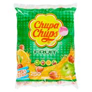 Chupa Chups Lutscher XL Frucht 250 Stück á 12 g, Mix aus Apfel, Erdbeere, Orange & Kirsche 3 kg Beutel
