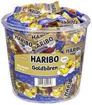 Haribo Gute Nacht Goldbären 100 Portionsbeutel à 10 g 1 kg Dose