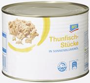 aro Thunfischstücke in Sonnenblumenöl 6 x 1,705 kg Dosen