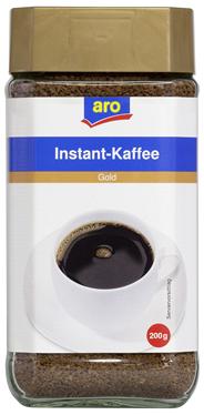 aro Kaffee Gold Instant 200 g Glas
