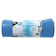 Papstar Müllsäcke LDPE 120 l blau 110 x 70 cm 50 Stück Rolle