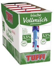 Tuffi frische Vollmilch 3,5 % Fett 10 x 1 l Packungen