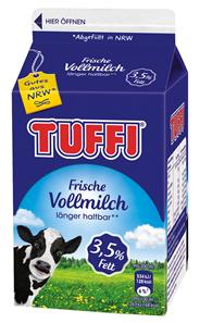Tuffi frische Vollmilch 3,5 % Fett 10 x 500 ml Packungen