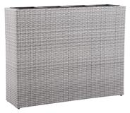 Tarrington House Raumtrenner Rattan Offwhite 4er 75 x 95 x 27 cm, inkl. Entnehmbare Pflanzeinsätze