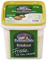 Feldmühle Kartoffelsalat altbayrische Art: Kartoffelscheiben in Essig-Öl-Dressing, verfeinert mit Senf und Zwiebeln 5 kg Eimer