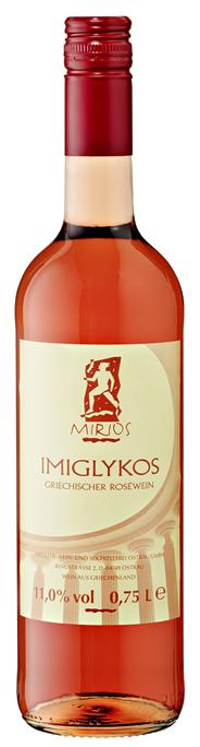 Mirios Imiglykos Rosé Roséwein lieblich - 6 x 0,75 l Flaschen