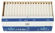 H-Line Tafelkerze Elfenbein 180 x Ø 21,5 mm, Brenndauer 5,5 - 6,5 Stunden - 144 Stück