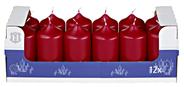 H-Line Stumpenkerzen Bordeaux 100 x Ø 48 mm 12er Karton