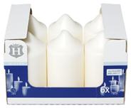 H-Line Stumpenkerzen Elfenbein 130 x Ø 68 mm 36 - 38 Stunden 6er Karton