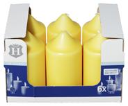 H-Line Stumpenkerzen Gelb 130 x Ø 68 mm 36 - 38 Stunden 6er Karton