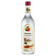 Berghof Obstwasser 38 % Vol. aus Äpfeln und Birnen 1 l Flasche