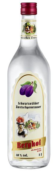Berghof Zwetschgenwasser 40% Vol. 6 x 1 l Flaschen