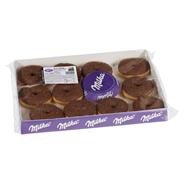 Milka Schoko Donuts aus Hefeteig 12 Stück à 56 g, verzehrfertig 670 g