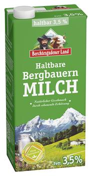 Bergbauern H-Milch 3,5 % Fett 12 x 1 l Packungen