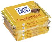 Ritter Sport Tafelschokolade Knusperflakes Sahneschokolade mit Cornflakes (12 %), Kakao (30 %), 5 Stück à 100 g 16 x 500 g Packungen