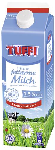 Tuffi frische fettarme Milch 1,5 % Fett 10 x 1 l Packungen