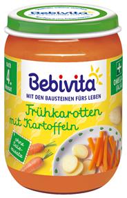 Bebivita Gemüse Frühkarotten mit Kartoffeln 190 g Glas