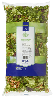 Horeca Select Delikatess Mischsalat Mix aus Frisee, Karotten, Lollo Rosso & Mais 750 g