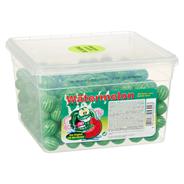 Fizzi Balls Wassermelone Kaugummi Kugeln 300 Stück á 5 g, extra sauer 1,5 kg Dose