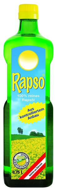 Rapso 100 % reines Rapsöl 280 x 750 ml Flaschen