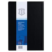 H-Line Speisekarte A4 schwarz mit 6 Hüllen