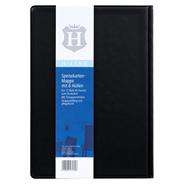 H-Line Speisekarte-Mappe mit 6 Hüllen schwarz DIN A5