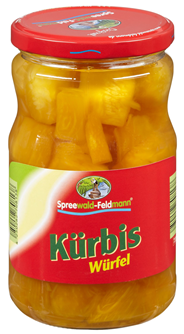 Spreewald-Feldmann Kürbis verzehrfertig, eingelegt 720 ml Glas