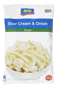 Aro Snack Sour Cream & Onion 150 g Packung